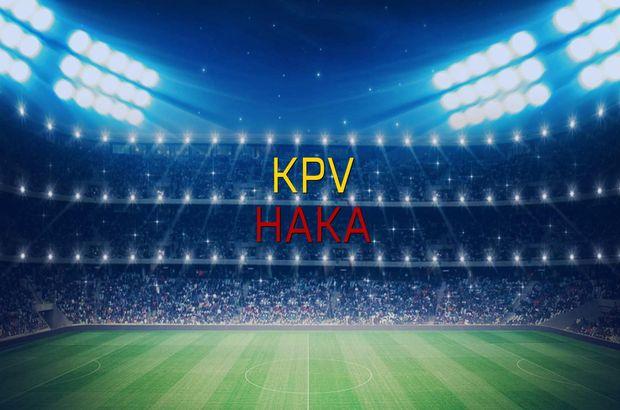 KPV - Haka maçı istatistikleri