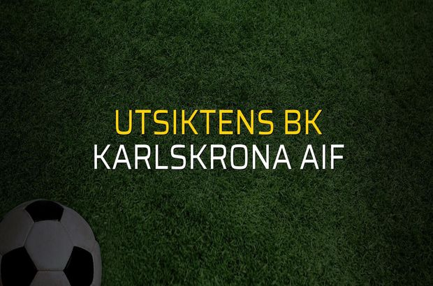 Utsiktens BK - Karlskrona AIF maçı heyecanı