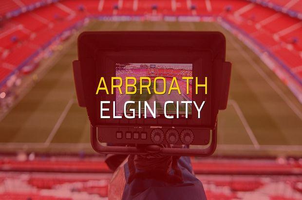 Arbroath - Elgin City sahaya çıkıyor