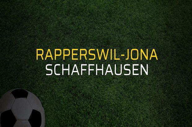 Rapperswil-Jona - Schaffhausen maçı öncesi rakamlar