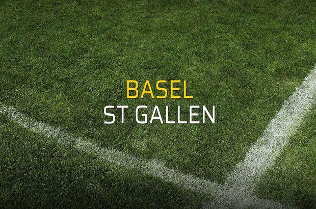 Basel - St Gallen düellosu