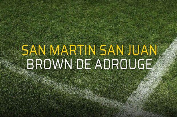 San Martin San Juan - Brown De Adrouge sahaya çıkıyor