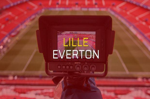 Lille - Everton maçı rakamları