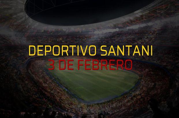 Deportivo Santani - 3 de Febrero karşılaşma önü