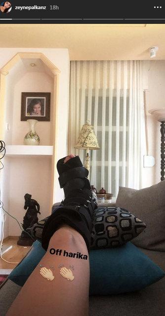 Zeynep Alkan ayağını incitti - Magazin haberleri