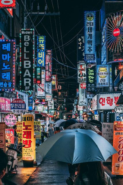 Film karelerini aratmayan Seul'un sokakları ve Seul sokaklarında günlük yaşama dair izler...