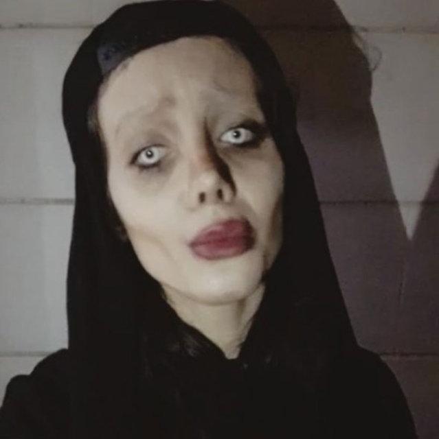Angelina Jolie'ye benzemek isteyen kadının ilk hali ortaya çıktı!