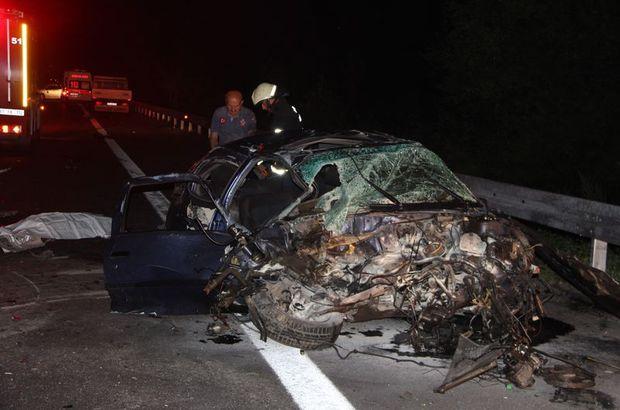 Düzce'de yoldan çıkan araç karşı şeride geçti 1 kişi öldü