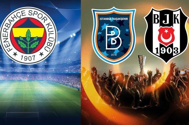 Fenerbahçe, Beşiktaş ve Başakşehir'in rakipleri belli oluyor (Fenerbahçe'nin muhtemel rakipleri)