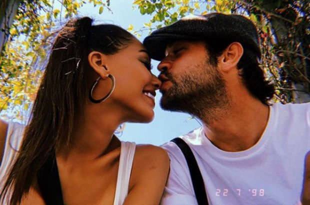 Ünlü çiftten romantik poz