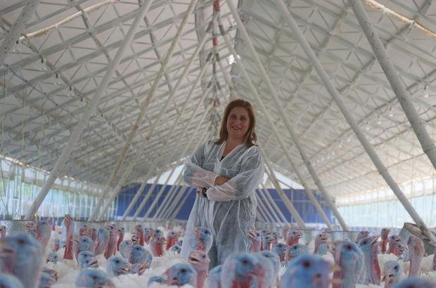 Kocasından devraldığı çiftliği üç kat büyüttü