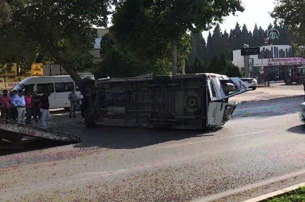 kahramanmaraş'ta işçi servisi devrildi: 11 yaralı