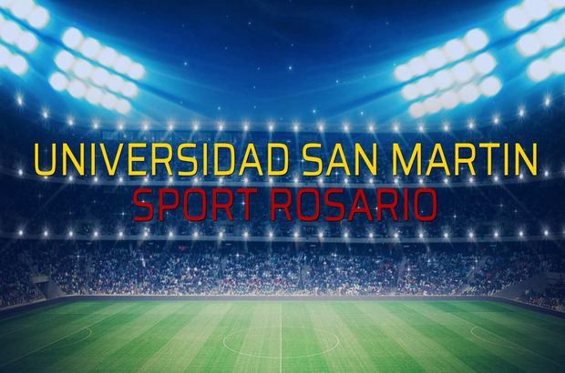 Universidad San Martin - Sport Rosario maç önü