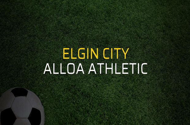 Elgin City - Alloa Athletic sahaya çıkıyor