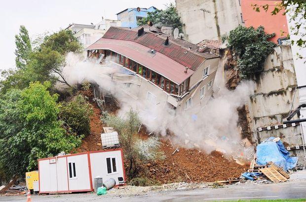 Son dakika: Beyoğlu Sütlüce'deki bina yıkıldı, tehlike geçmedi