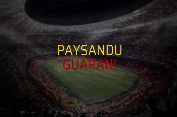 Paysandu - Guarani sahaya çıkıyor