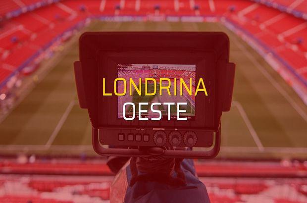 Londrina - Oeste maçı ne zaman?