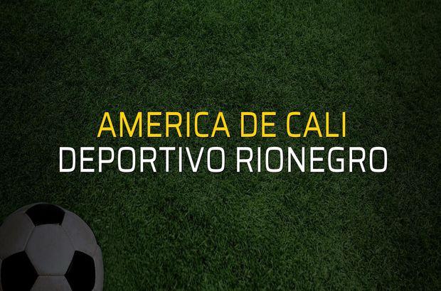 America de Cali - Deportivo Rionegro maç önü