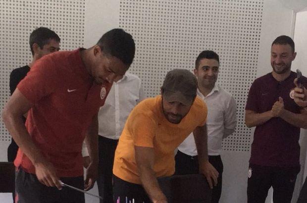 Galatasaray'da Fernando'nun doğum gününü kutladı