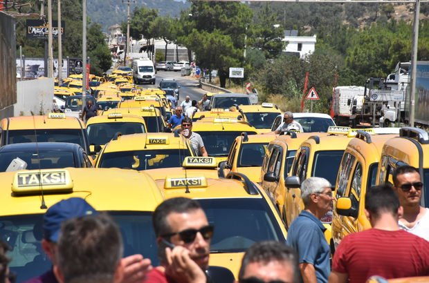 Taksicilerden UBER'e tepki