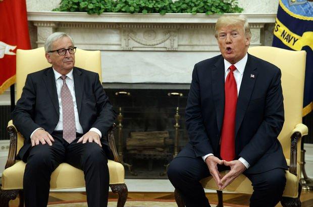 Trump ve Juncker ticaret sorunu için masaya oturdu