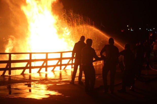 Mogan Gölü yangın