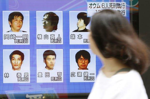 Japonya'da tarikatın son 6 üyesi de idam edildi!