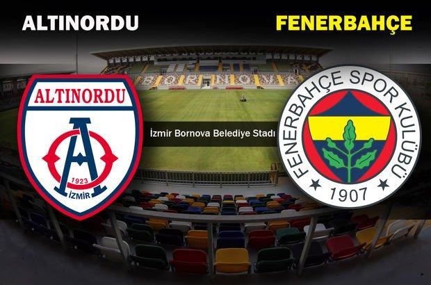 Altınordu - Fenerbahçe hazırlık maçı ne zaman? Hangi kanalda? Saat kaçta?
