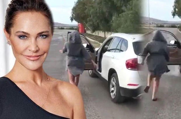 Hülya Avşar'ın araçtan inip yaptığı dansa inceleme