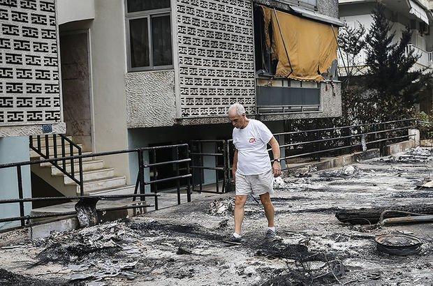 Yunanistan'daki yangının tanıkları şoku atlatmaya çalışıyor