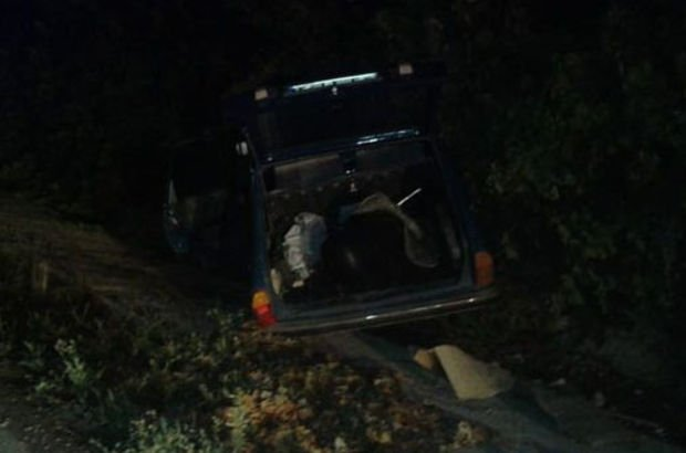 Amasya'da otomobil devrildi