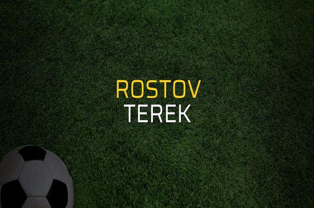 Rostov - Terek sahaya çıkıyor