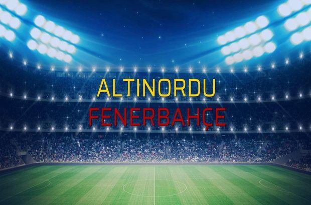 Altınordu - Fenerbahçe maçı istatistikleri