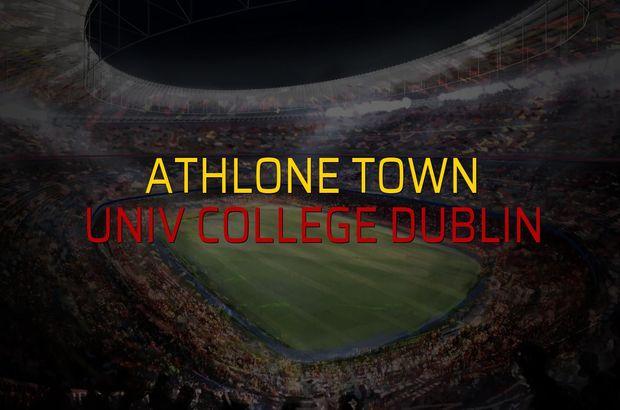 Athlone Town - Univ College Dublin maçı heyecanı