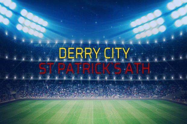 Derry City - St Patrick`s Ath sahaya çıkıyor