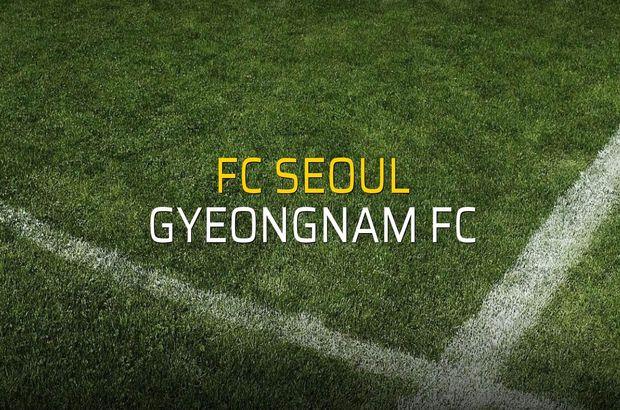 FC Seoul - Gyeongnam FC maçı rakamları