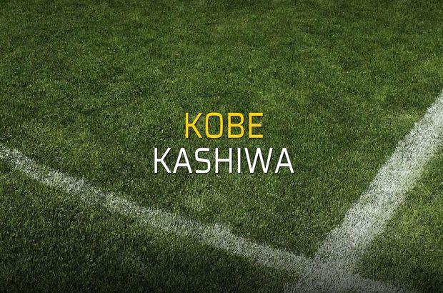 Kobe - Kashiwa maçı öncesi rakamlar