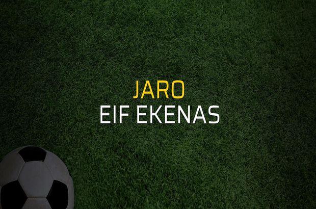 Jaro - EIF Ekenas sahaya çıkıyor