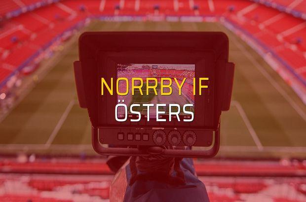 Norrby IF - Östers maçı rakamları