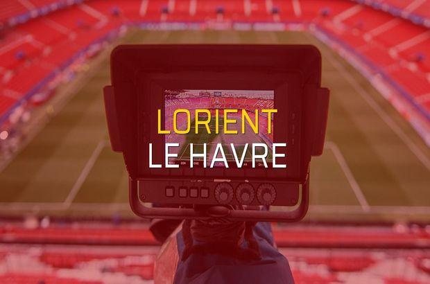 Lorient - Le Havre düellosu