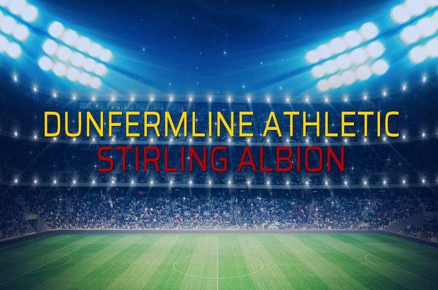 Dunfermline Athletic - Stirling Albion sahaya çıkıyor