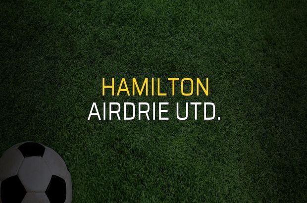 Hamilton - Airdrie Utd. maçı rakamları