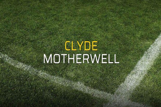 Clyde - Motherwell maçı rakamları