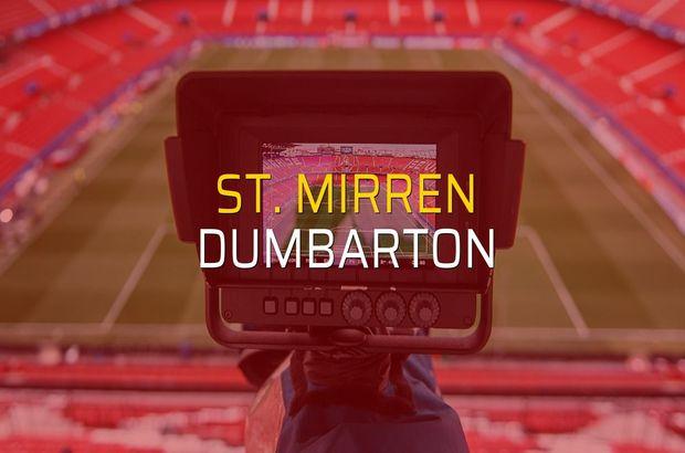 St. Mirren - Dumbarton maçı öncesi rakamlar