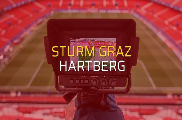 Sturm Graz - Hartberg maçı rakamları