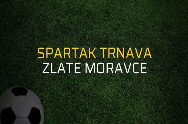 Spartak Trnava - Zlate Moravce maçı rakamları