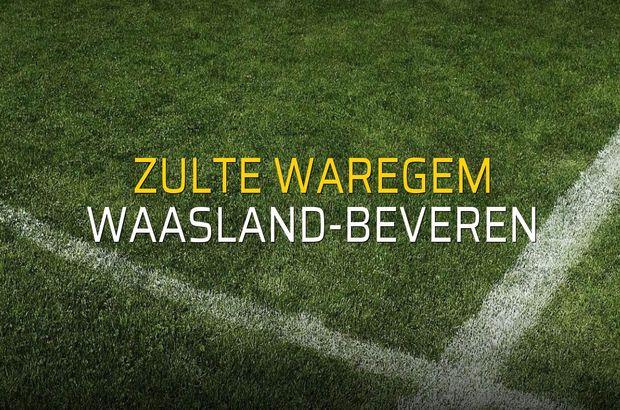 Zulte Waregem - Waasland-Beveren rakamlar