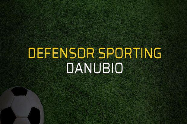 Defensor Sporting - Danubio maçı rakamları