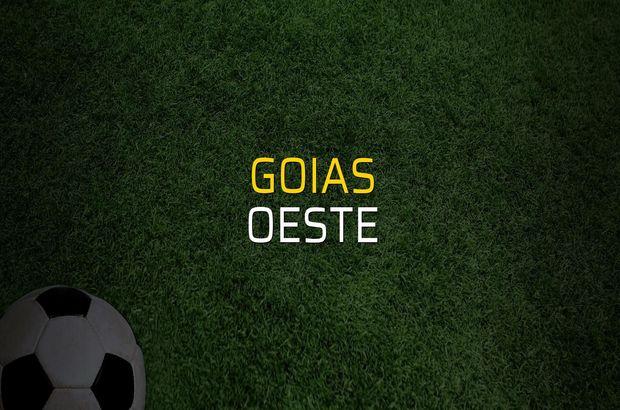 Goias - Oeste maçı rakamları