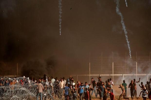 Gazzeli yetkililer: Protestolarda 1'i çocuk 2 kişi hayatını kaybetti
